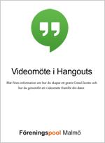 Manual för videomöte i Hangouts